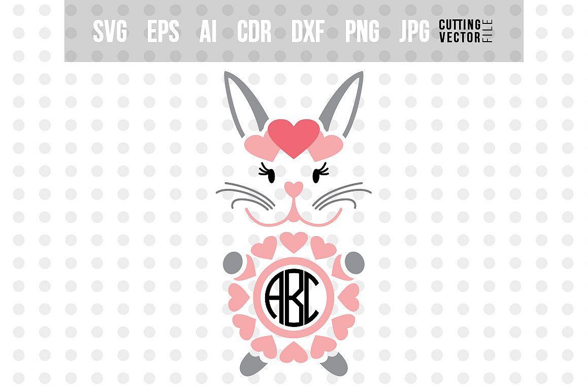 Bunny Monogram SVG - File for Silhouette & Cricut example image 1