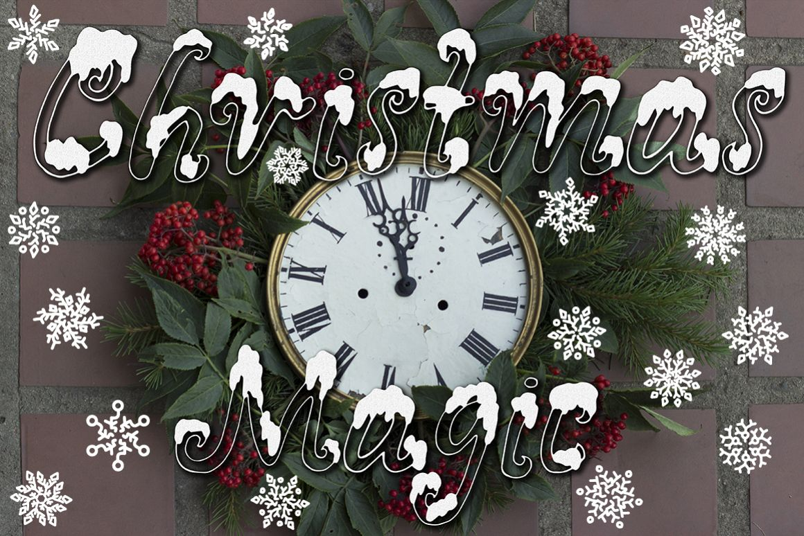 Snowy X-mas font example image 1
