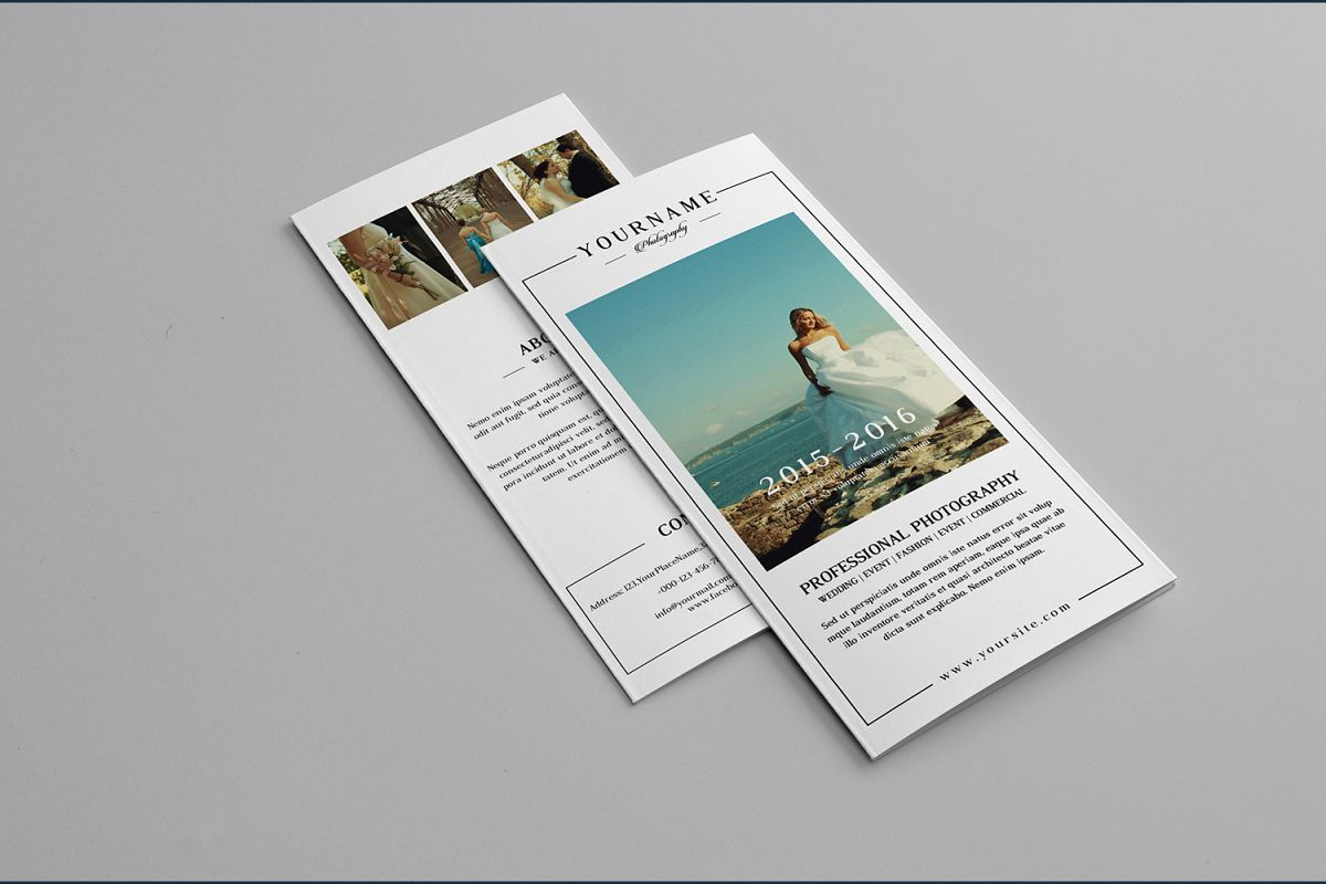 Wedding Photographer Trifold Brochure  example image 1