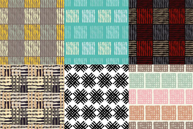 6 Ethnic boho seamless pattern. Scribble texture.  example image 1