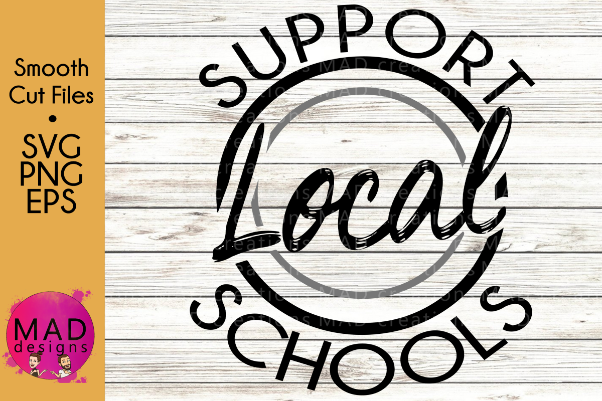 Support Local Schools - SVG, PNG, EPS example image 1