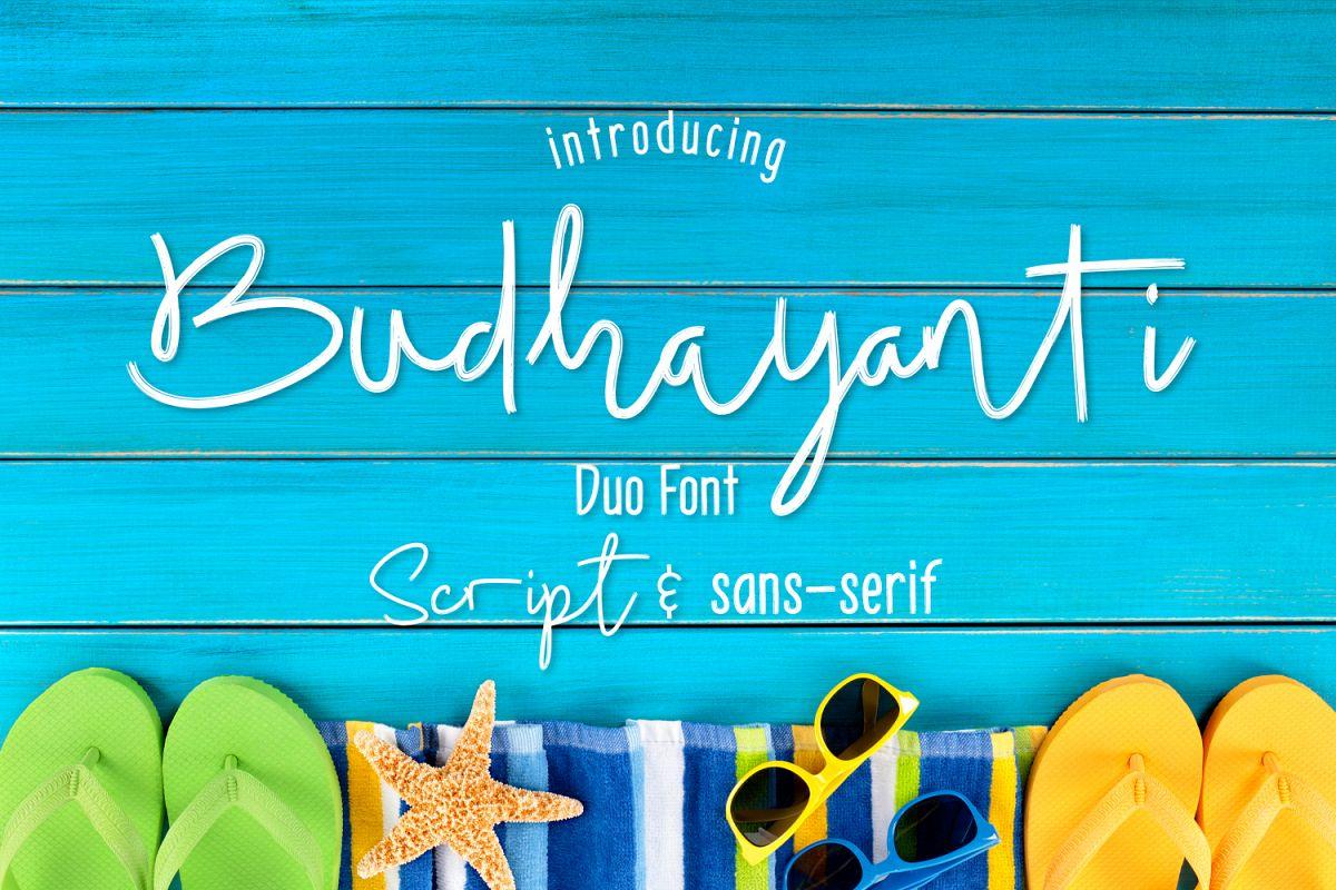 Budhayanti duo font example image 1