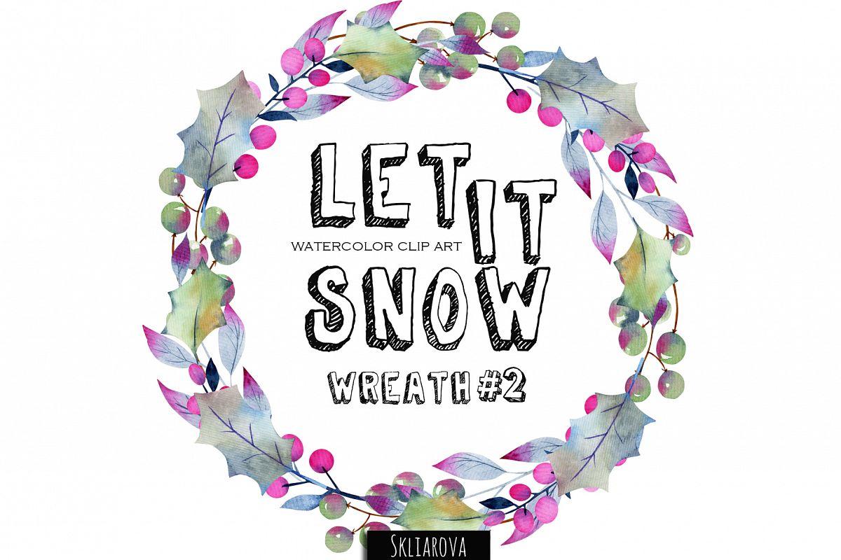 Let it snow. Wreath #2 example image 1