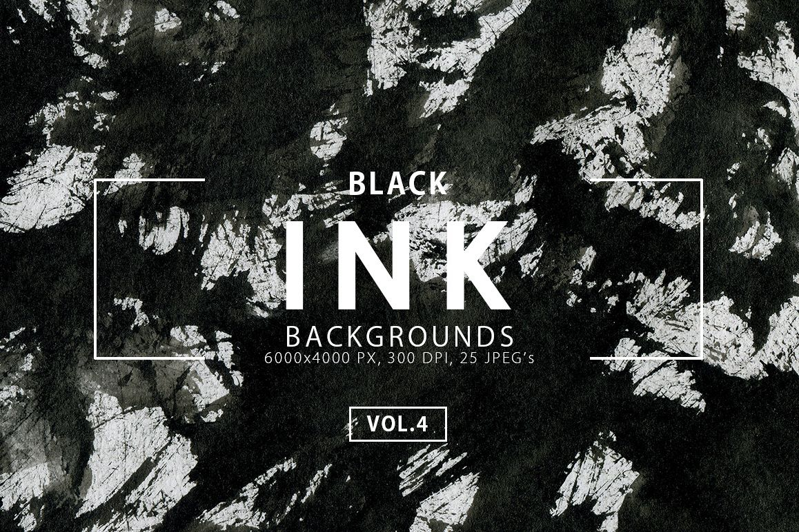 Black Ink Backgrounds Vol.4 example image 1