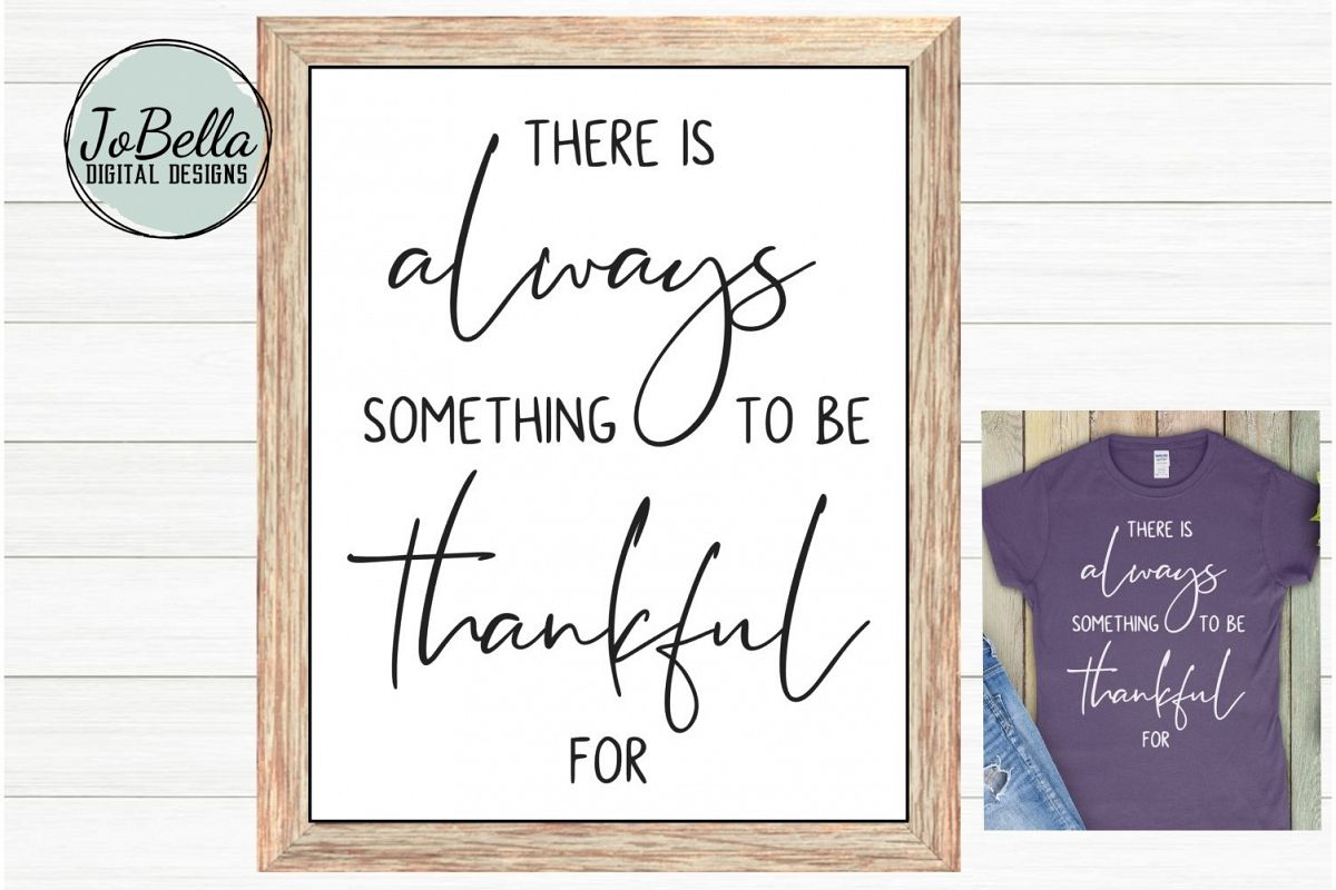 Grateful SVG and Printable Inspirational Quote example image 1