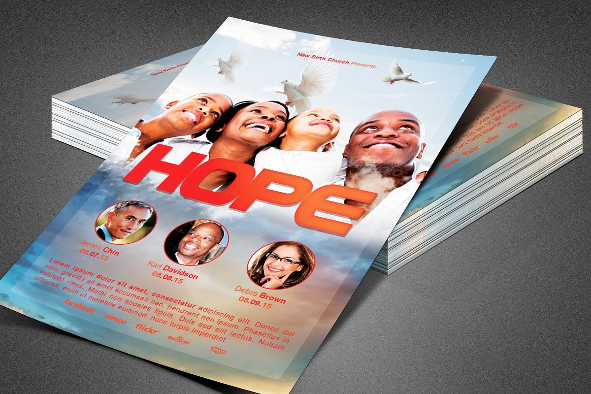 Hope Sermon Church Flyer Template example image 1