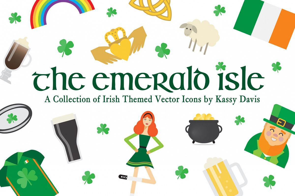 The Emerald Isle - Irish Icon Set! example image 1