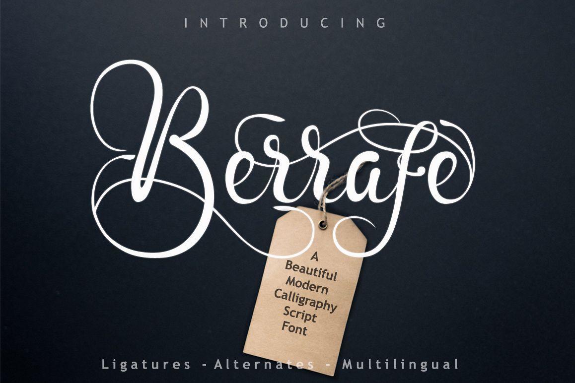 Berrafe Font example image 1