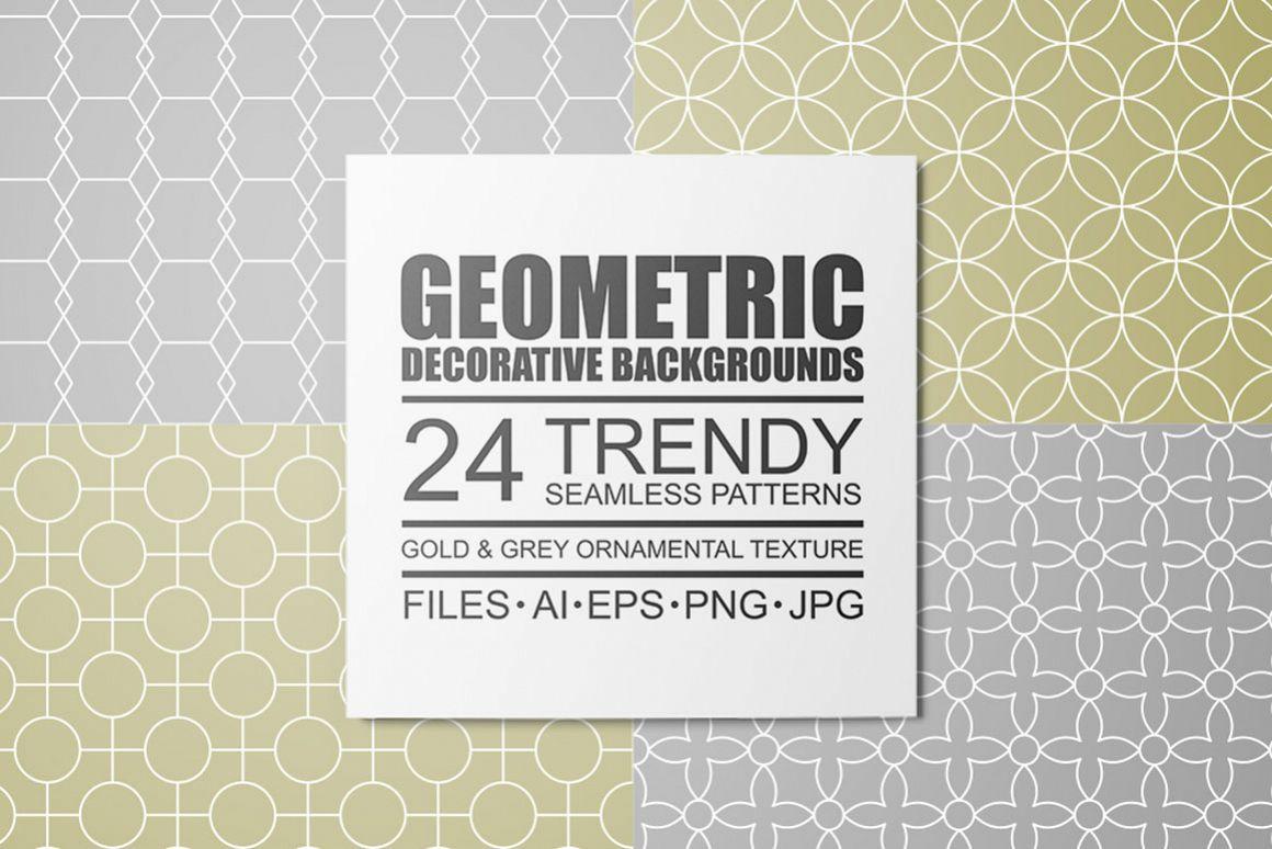 Geometric seamless symmetry patterns example image 1