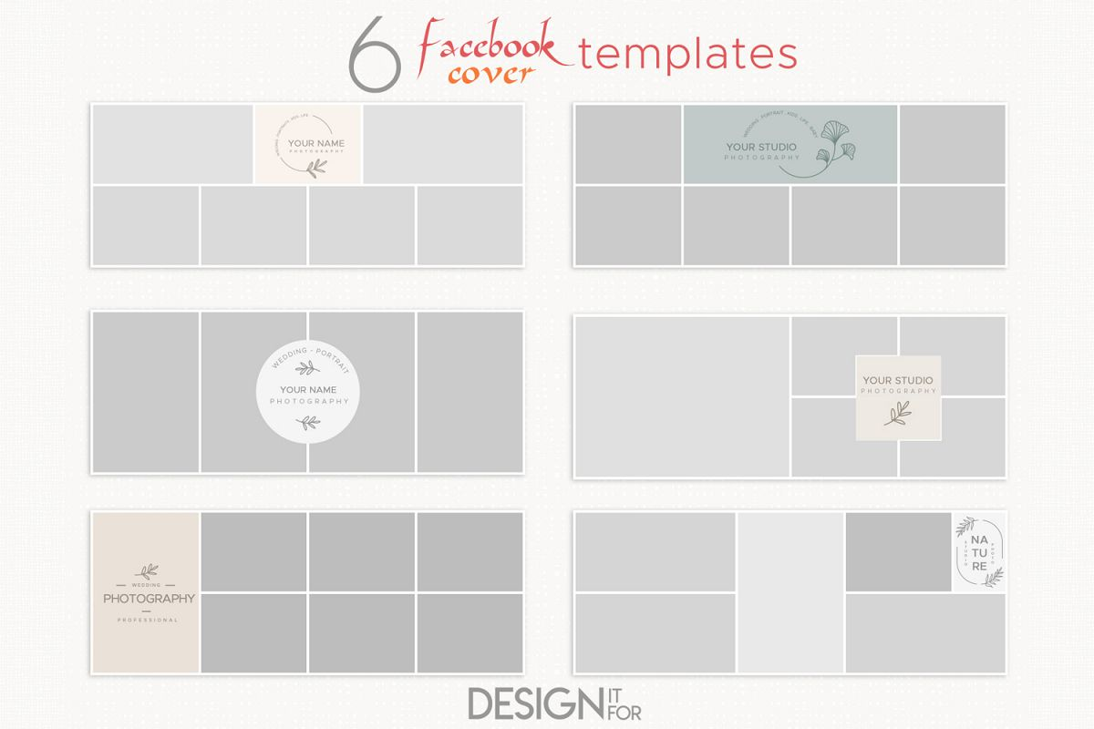 Collage Facebook Cover Template for Photographers example image 1
