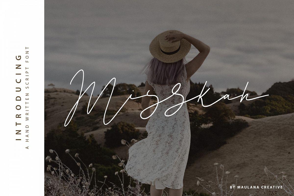 Misskah Script Font example image 1