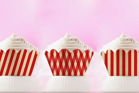 photograph about Printable Cupcake Wrappers called 3 Printable Cupcake Wrappers with Pink Stripes