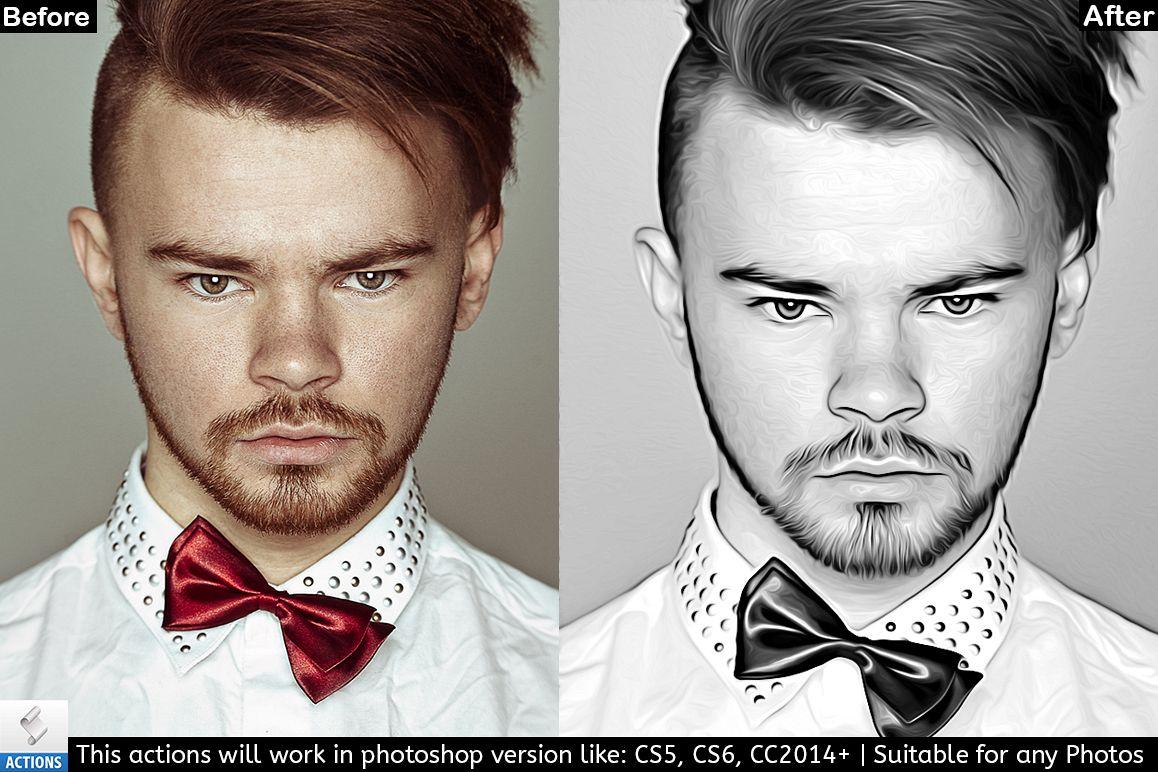 Black & White Photo Painting Effect example image 1