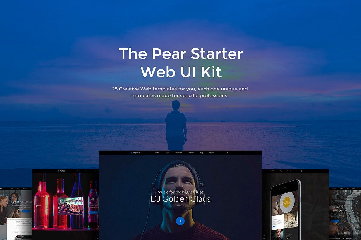 The Pear Starter Web UI Kit example image 1
