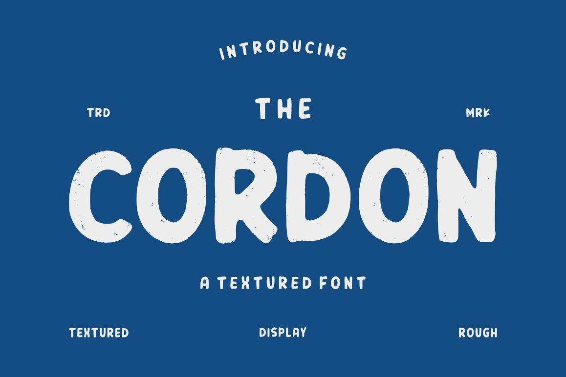 Cordon - Textured Font example image 1
