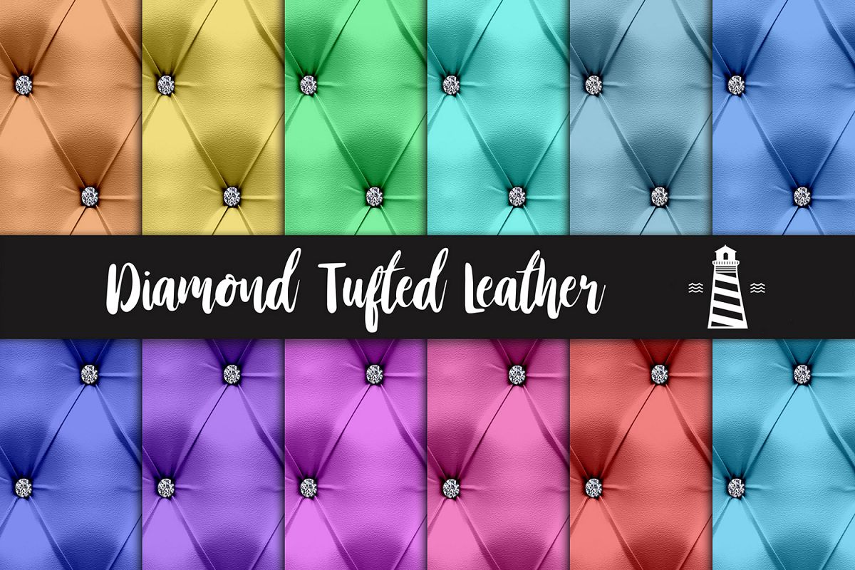Diamond Tufted Leather Textures example image 1