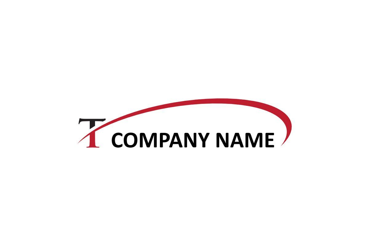 t letter swoosh logo example image 1