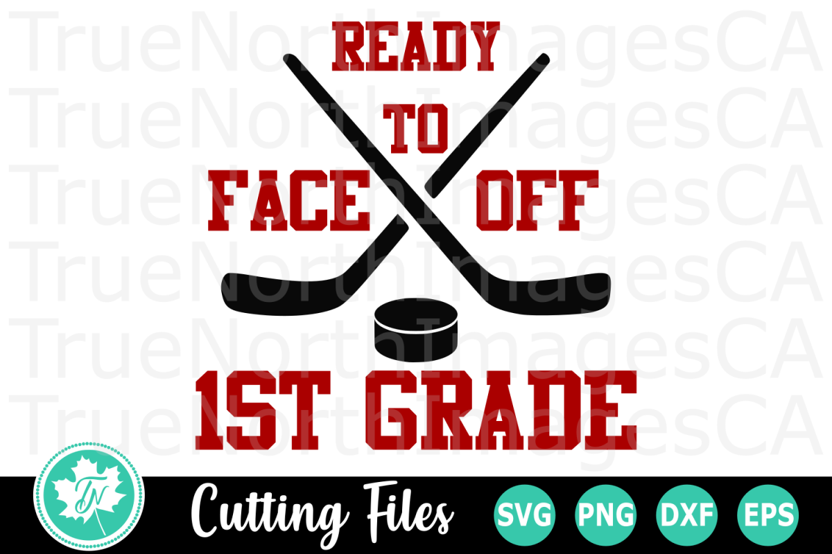 Ready to Face off 1st Grade - A School SVG Cut File example image 1