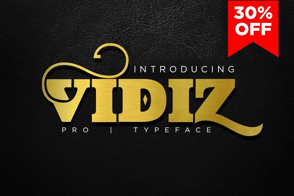VIDIZ PRO Typeface example image 1