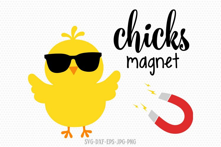 chicks magnet, Easter Chick Svg, Chick Svg example image 1