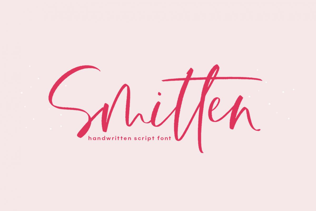 Smitten - A Handwritten Script Font example image 1