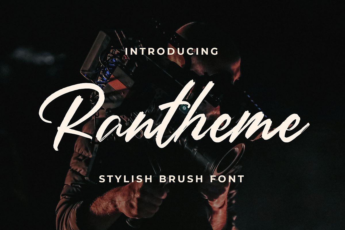 Rantheme - Stylish Brush Font example image 1