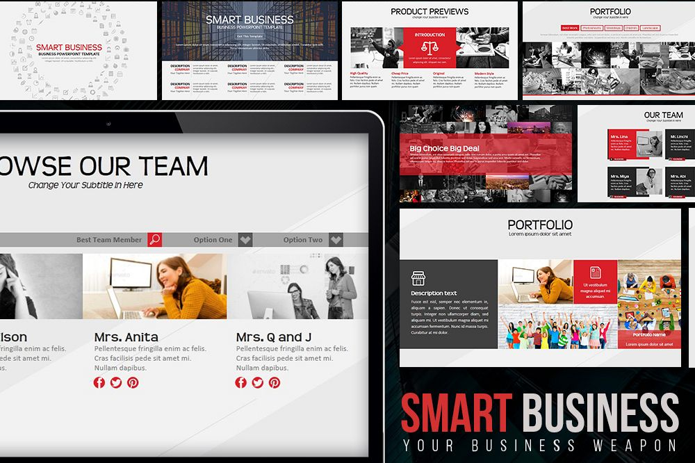 Smart Business PowerPoint Template example image 1
