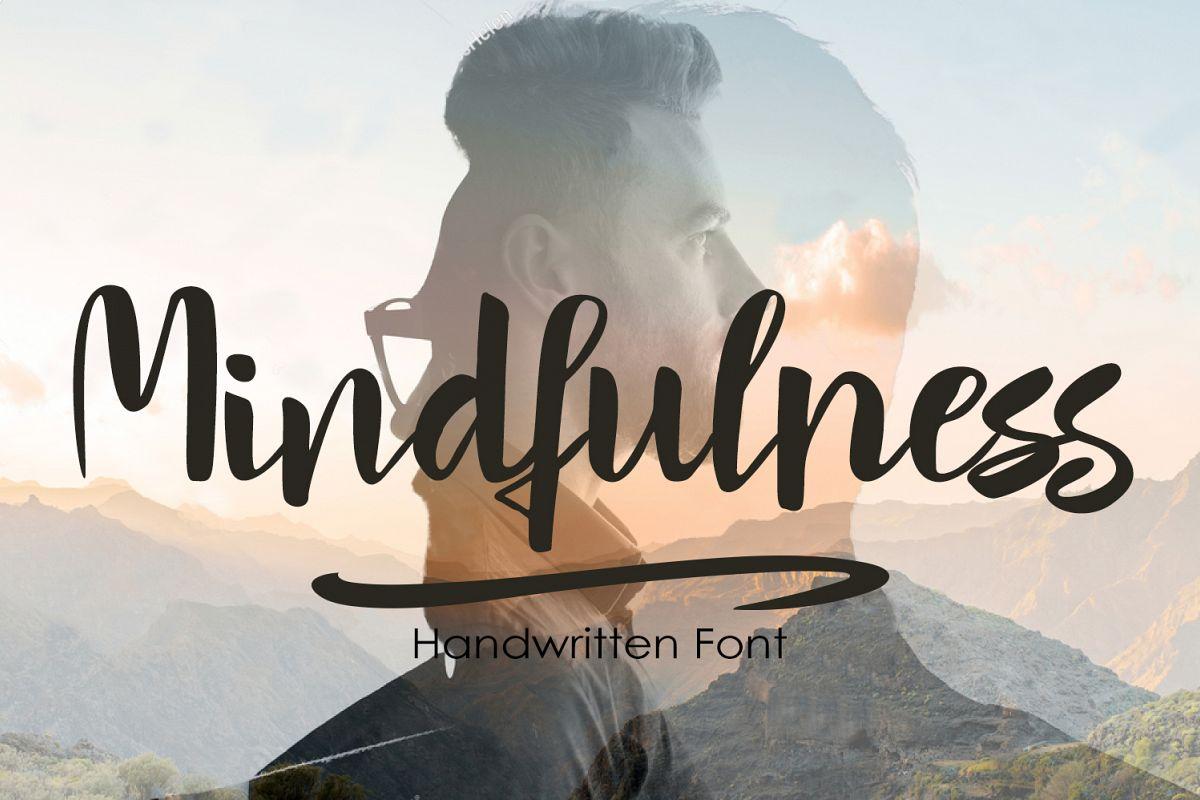 Mindfulness - handwritten font example image 1