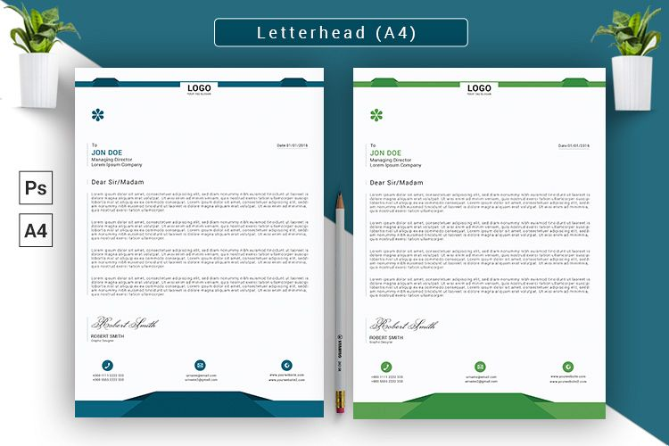 Letterhead/Cover Letter Template example image 1