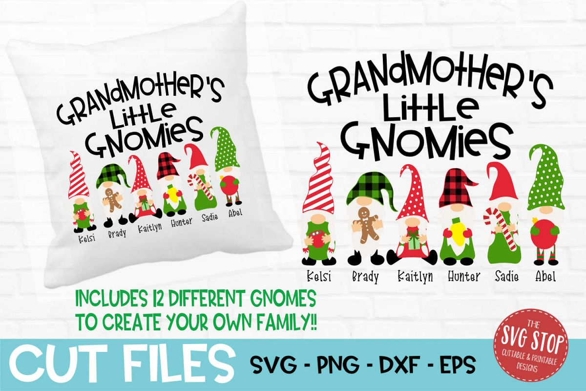 Grandmother's Little Gnomies Christmas SVG, PNG, DXF, EPS example image 1