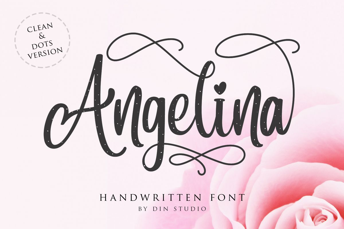 Angelina Script- Beautiful Handwritten example image 1