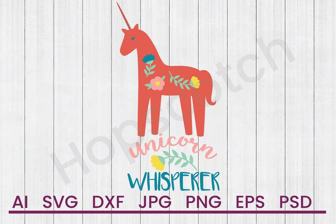 Unicorn SVG, Whisperer SVG, DXF File, Cuttatable File example image 1