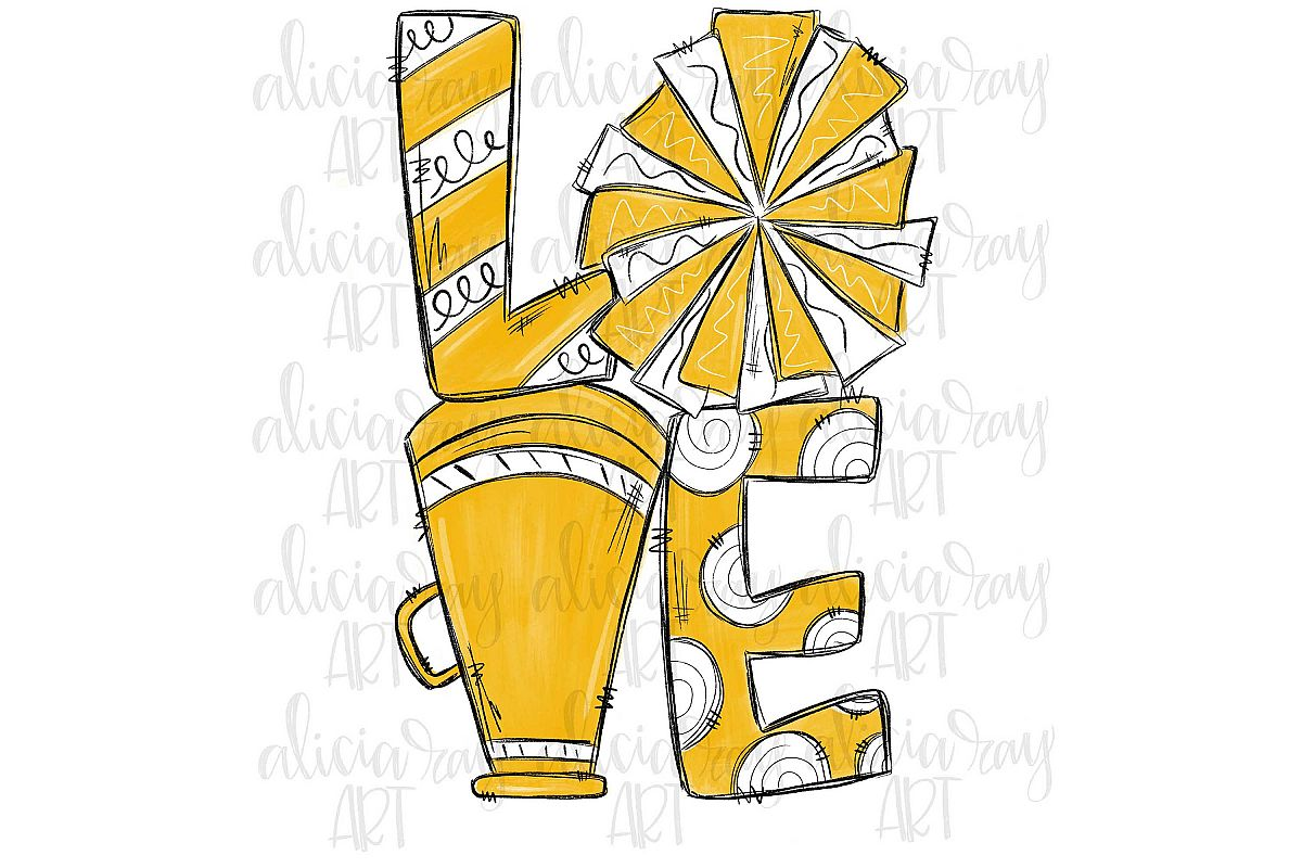 Cheer Love Gold and White example image 1