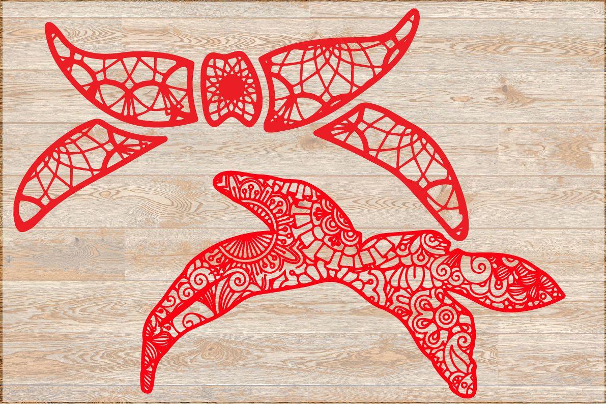 Bandana svg bandana mandala svg dxf png, bundle, 1379s example image 1