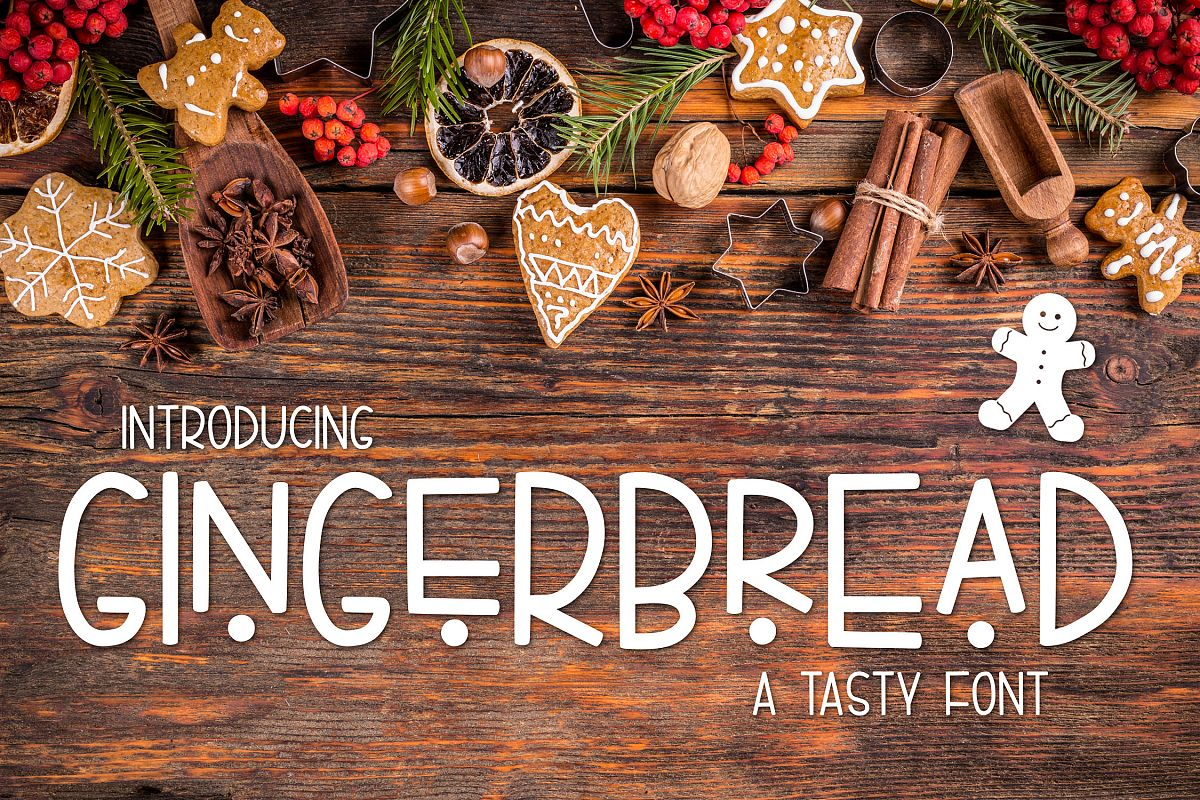 Gingerbread a Tasty Font example image 1