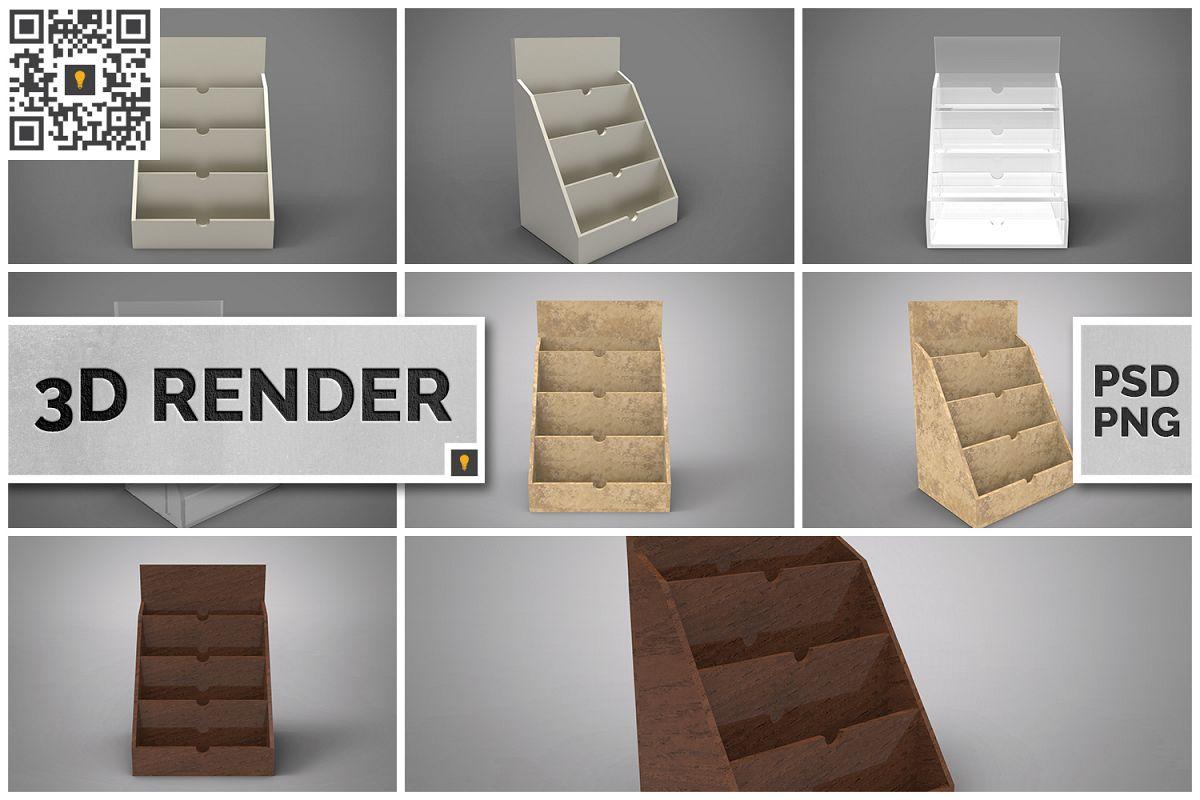 Business Card Holder 3D Render example image 1