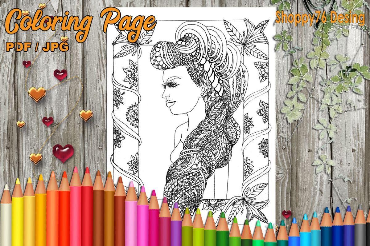 I'm Lulabella / Coloring Page example image 1