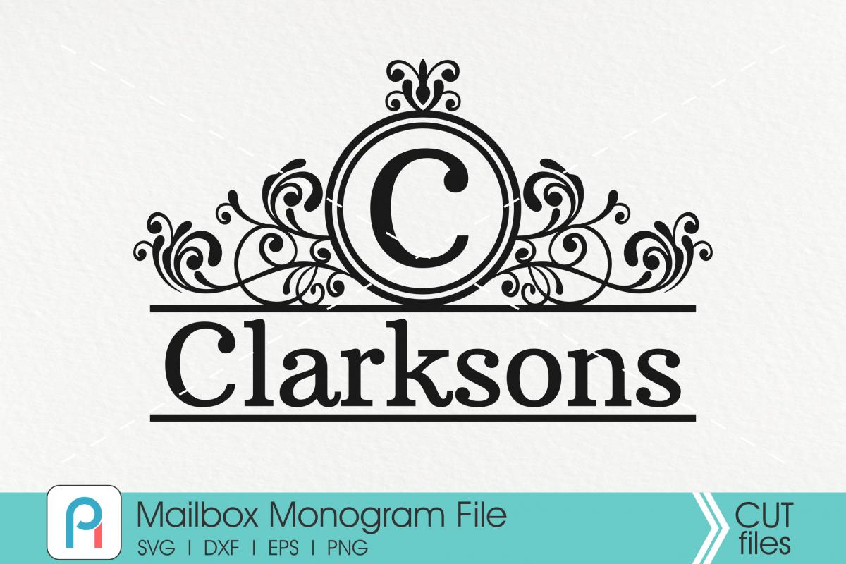 Mailbox Svg, Mailbox Monogram Svg, Mailbox Decal Svg, Svg example image 1