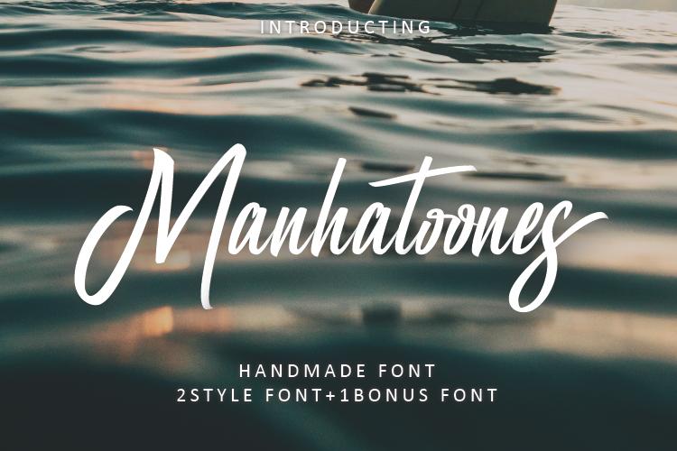 Manhatoone Script, 3 font example image 1