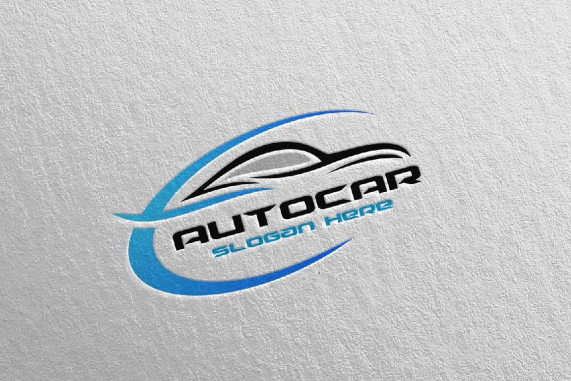 Auto Car Logo For Sport Cars Rent Wash Or Mechanic 4