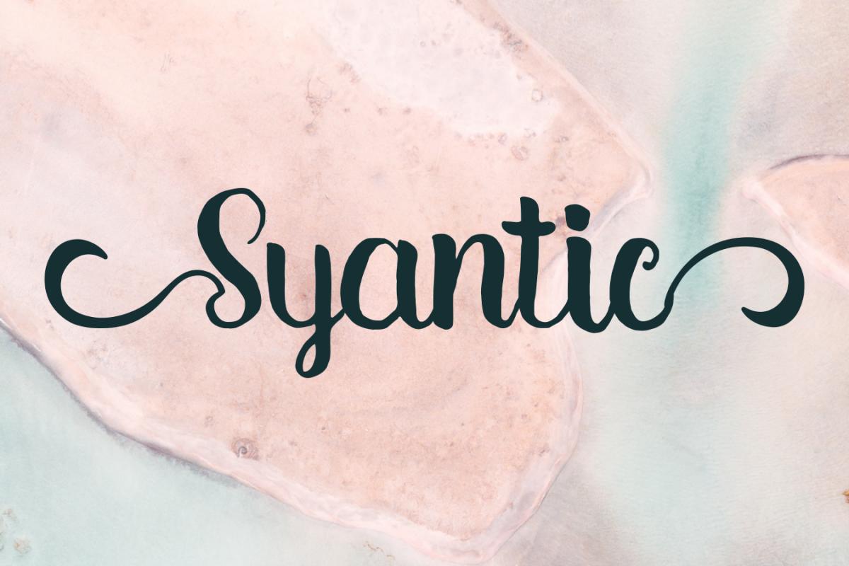 Syantic Handwritten Script example image 1