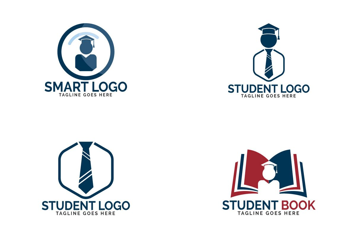 Student logo set. Educational and institutional logo design. example image 1
