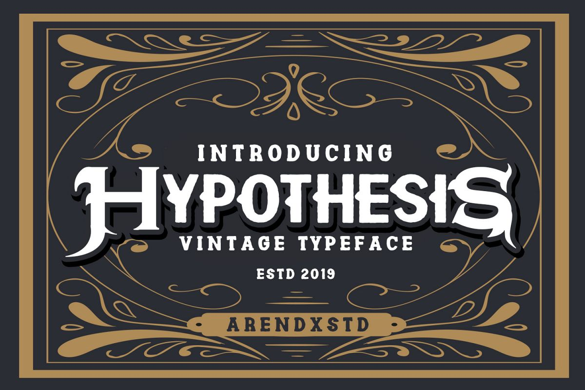 Hypothesis Typeface example image 1