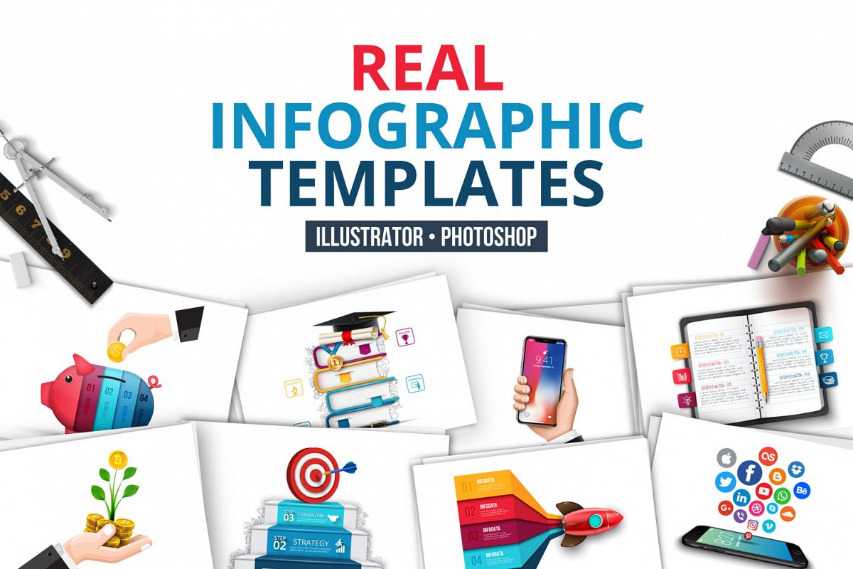 Real infographic templates example image 1