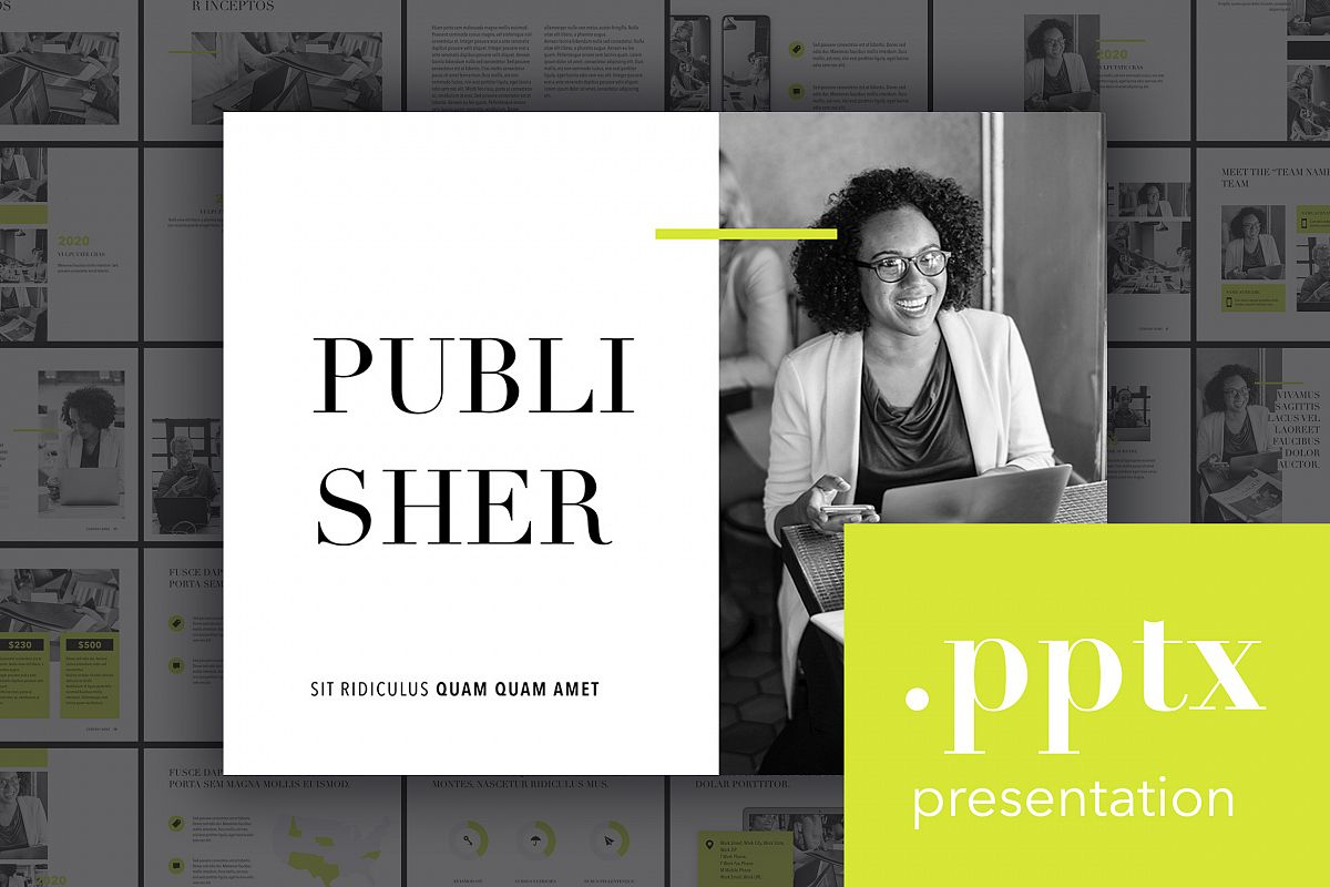 Publisher PowerPoint Template example image 1