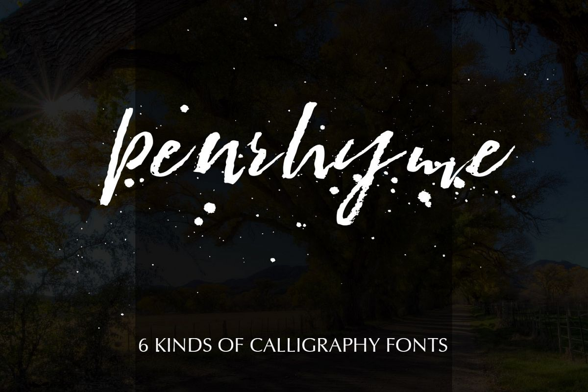 Penrhyme Calligraphy Font example image 1