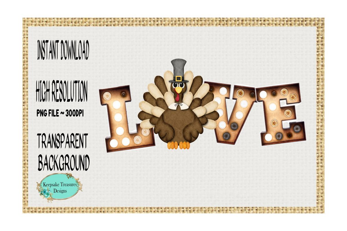 Fall Whimsical Love Turkey example image 1
