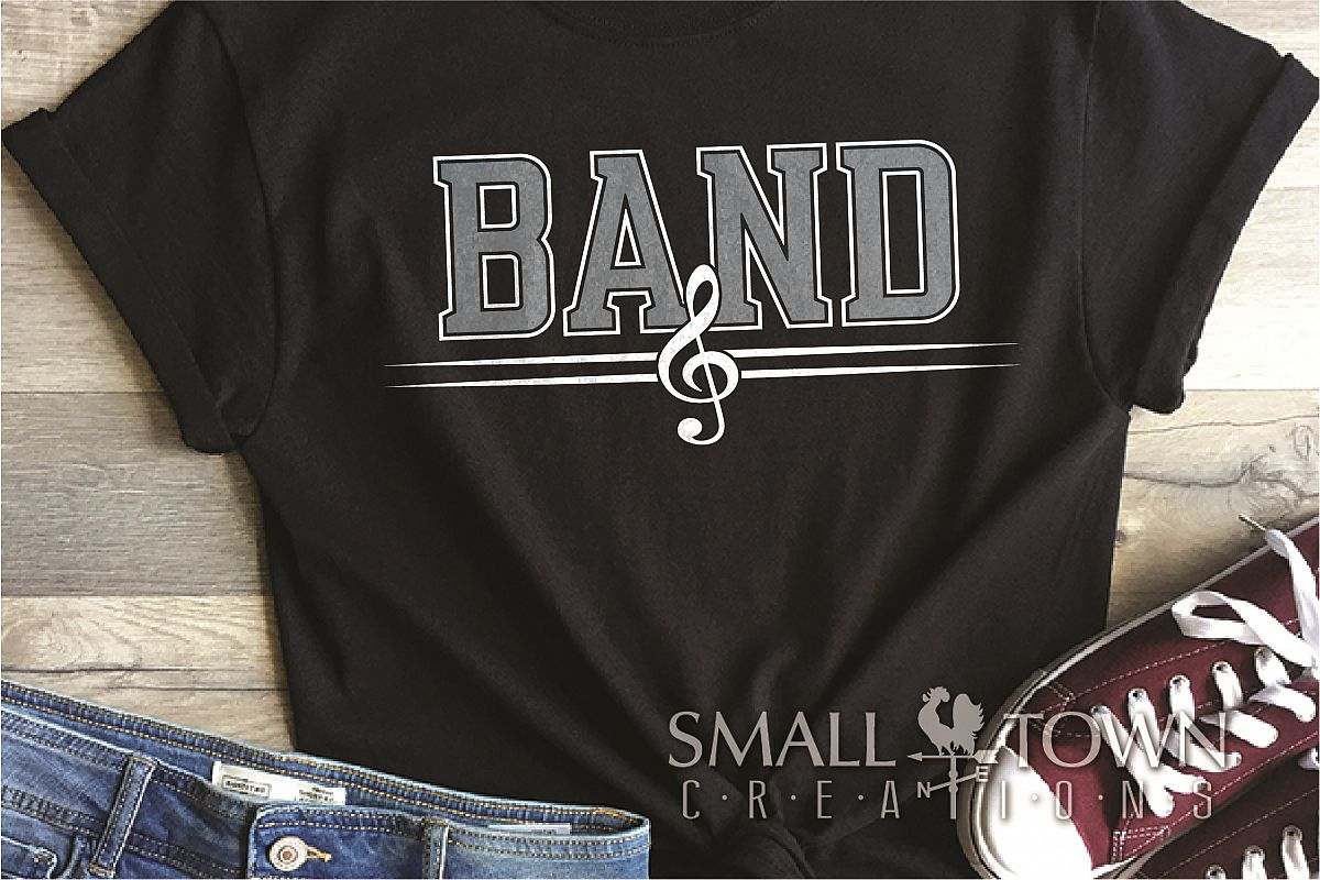Band, Band logo, Muscial Note, PRINT, CUT & DESIGN example image 1