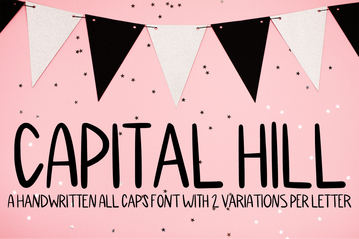 Capital Hill - A Handwritten All Caps Font example image 1