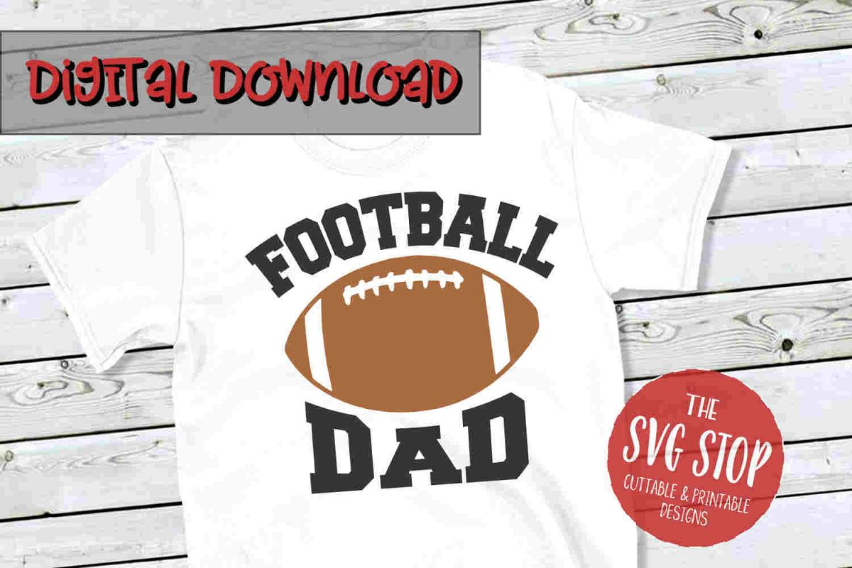 Football Dad 3-SVG, PNG, DXF example image 1